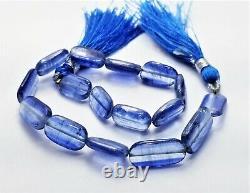 AAA RARE NATURAL GEM GRADE BLUE KYANITE NUGGET BEADS 95cts 13-18mm 9 STRAND