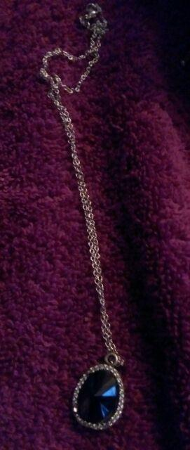 Authentic Pandora Bezel Onyx Gemstone With 18 Inch Necklaces Rare Find