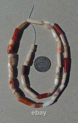 A strand of selected rare ancient small and tiny agate stone beads mali #4913