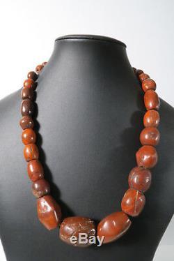 Alte XL rare Steinperlen Jaspis AE99 Jasper Strand Antique Stone Beads Afrozip