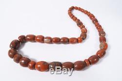 Alte rare Steinperlen Jaspis AC87 Jasper Strand Antique Stone Beads Afrozip