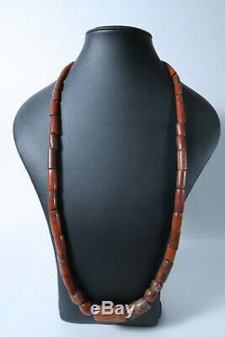 Alte rare Steinperlen Jaspis AI29 Jasper Strand Antique Stone Beads Afrozip