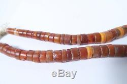 Alte rare Steinperlen Karneol AH75 Bankam Antique Carnelian Stone Beads Afrozip