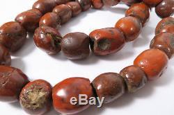Alte rare XL Steinperlen Jaspis AC85 Jasper Strand Antique Stone Beads Afrozip