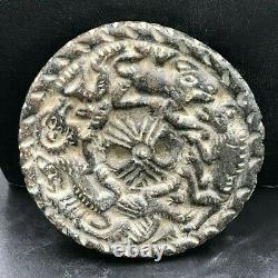 Ancient Bactrain Very Old Rare Schist Stone wonderful animals Amulet Bead stamp