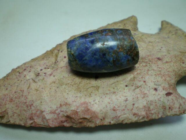 Ancient Huge Rare Blue Gem Conicaly Drild Hevy Minral/patina Kilr Best Iv Got1a1