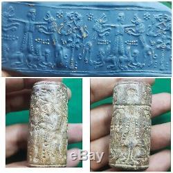 Ancient Sasanian rare stone cylinder seal bead