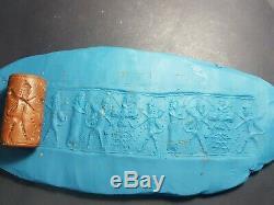 Ancient Sassanian rare jusper stone cylinderseal bead. #10