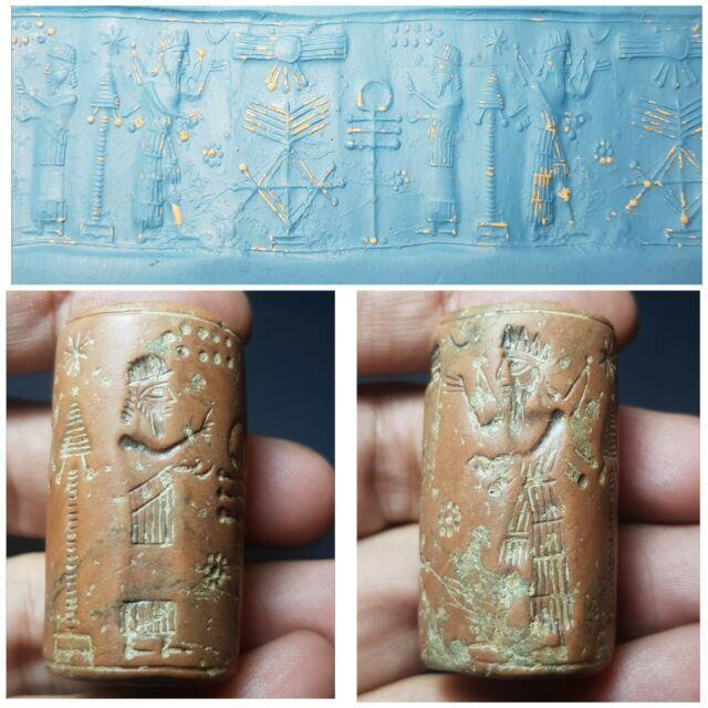 Ancient Sassanian Wonderfu Jusper Stone Rare Cylinderseal Bead