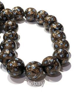 Art Deco Venetian Gold Stone & blue Beads RARE Georgian 9 Ct Clasp
