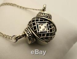 Authentic Rare Lagos Caviar 750 925 Onyx and Gold Bead Pendant Necklace