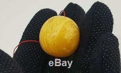 Ball Bead Huge Stone Amber Natural Baltic Bead 15,1g Sea Rare Vintage Old F-882