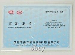 Beautiful Icy Purple A Grade Jade Donut Pendant Bead with Certificate Rare