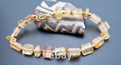 Beautiful Rare Aaaaa Brazilian Gem Golden Salmon Imperial Topaz Bracelet 7.4