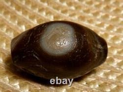 Beautiful Rare Ancient Tibetan Agate Stone Bead With Eyes / Stripes / Bands- Dzi