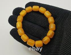 Bracelet Stone Amber Natural Baltic Vintage Bead 13,8g White Rare Sea Old S-130