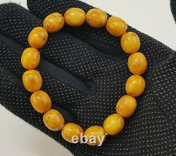 Bracelet Stone Amber Natural Baltic Vintage Bead 16,1g Old White Rare Sea R-658