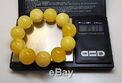 Bracelet Stone Amber Natural Baltic White Rare Vintage Bead 39,7g Special F-010