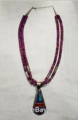 Daniel Coriz Multi Stone Inlay Necklace Rare & Stunning piece