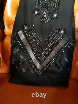 Dress Jovani embroidered with stones and beads size 0 authentic rare model