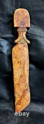 Egyptian Antique Dagger Hieroglyphic Amulet Rare Carved Mummy Bead Stone Craft