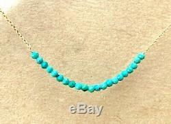 Elegant rare sleeping beauty turquoise bracelet hand wire wrap elegant 7.5 14k