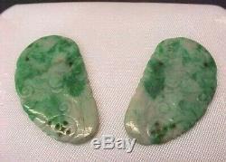 Estate Vintage New Old Stock Natural Gemstone Specimen Rare Jade Carving Bead L3