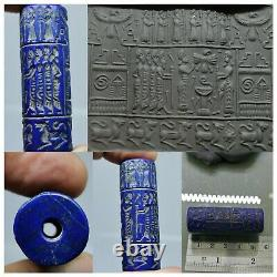 Excellent rare sassanian near Eastern cylinderseal intaglio old Bead # 106