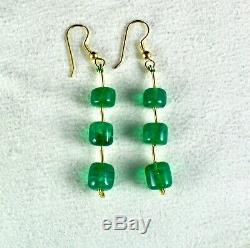 Exclusive Natural Zambian Emerald Beads 6 Pcs 31.80 Carats Rare Gemstone Earring