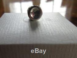 Genuine Pandora THIMBLE Charm Orange Carnelian Stone No 79364K Very Rare Mint