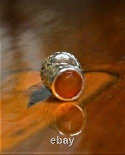 Genuine Pandora Very Rare THIMBLE Charm Orange Carnelian Stone No 79364K Retired