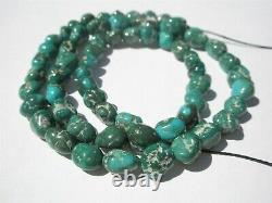 Genuine Rare Fox Mine Turquoise Nugget Beads 6-8x5-6mm Str