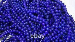 Grade AAA Premium Rare 7-8mm Royal Blue Natural Lapis Lazuli beading 10 Pcs lot