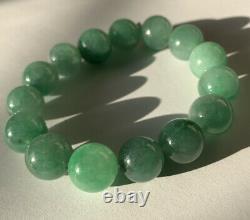 Grade A Natural Jade Jadeite Beads Bracelet Large Size Bead Rare