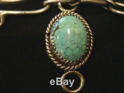 HAL & MARGIE HIESTAND Multi-Stone & Sterling Choker Pendant Necklace Rare! EC