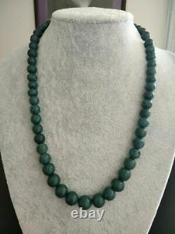 Heliopora. Necklace. Rare blue coral of the oceanic. Beads from 8.8-12.8 13.9