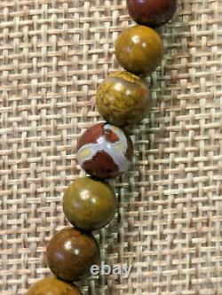 JAY KING Olivio Yellow and Red Oval Pendant and Graduated Bead Necklace RARE