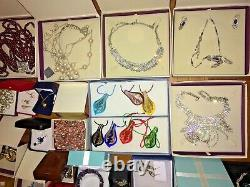 Job Lots 70 Mixed Rare Modern Vintage Jewellery Gems Stones Beads Necklaces Box