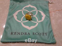 Kendra Scott Mustard Yellow Shelby Morgan Stone Ring 5/6 Rare Vintage