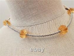 Lagos New Caviar Forever Citrine Melon Necklace 18k Gold Sterling Rare Bnwt $995