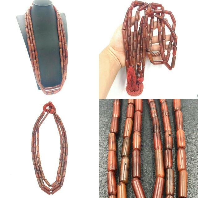 Lot 3 Strand Rare Old Carnelian Agate Stone Beads Beautiful Strand Necklaces