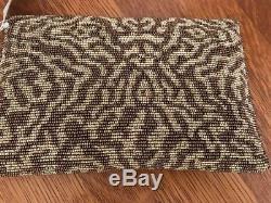 Mary Frances outward Bound Beaded bag Genuine stones NWT RARE