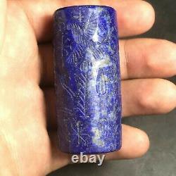 Master Piecs Sassanian Old Lapis Lazuli Stone Historical Rare CylinderSeal Bead