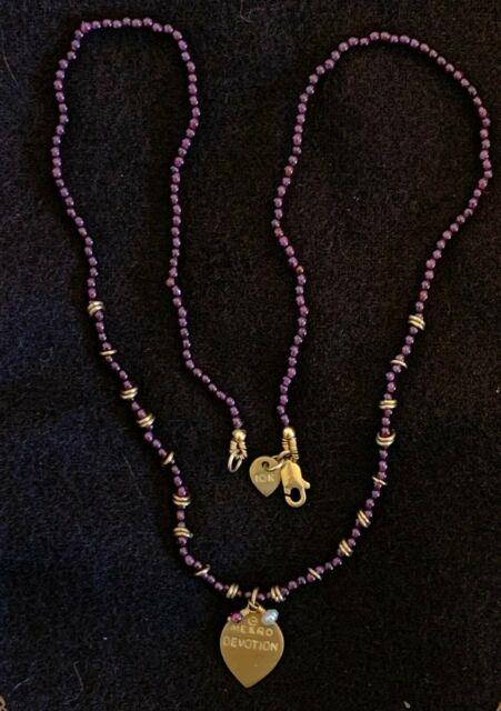 Me & Ro Devotion Necklace, Amethyst And Gold Beads, Rare