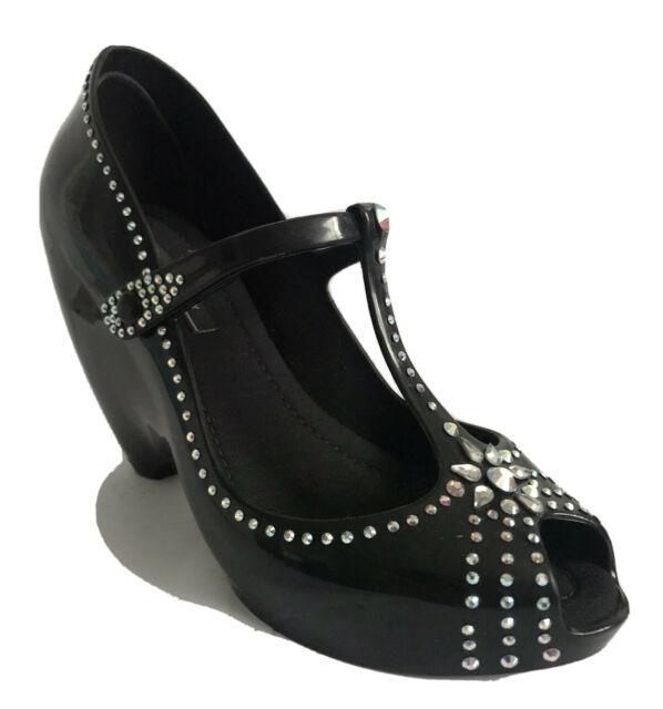 Melissa Couture X J Maskrey Swarowski Black Party Shoes Uk 5 Eu 38 Bnib Rare