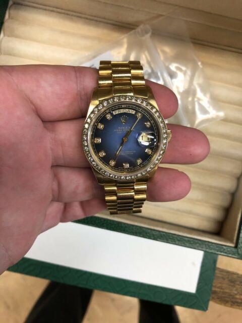 Mint Rare Rolex Ref 18038 President Day Date Factory Vignette Diamond Dial