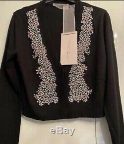 NWT GIAMBATTISTA VALLI x H&M merino wool cardigan Sparkle bead stones S. Rare