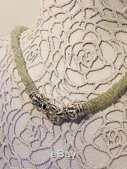 NWT LAGOS Sterling Silver & Prehnite Gemstone Multi-Strand Beaded Necklace RARE