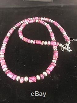 Native American Purple Sugilite Bead Sterling Silver Necklace Black Friday Sale