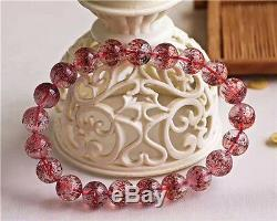 Natural Lepidocrocite Quartz Red Super Seven Beads Rare Bracelet 9.5mm AAA